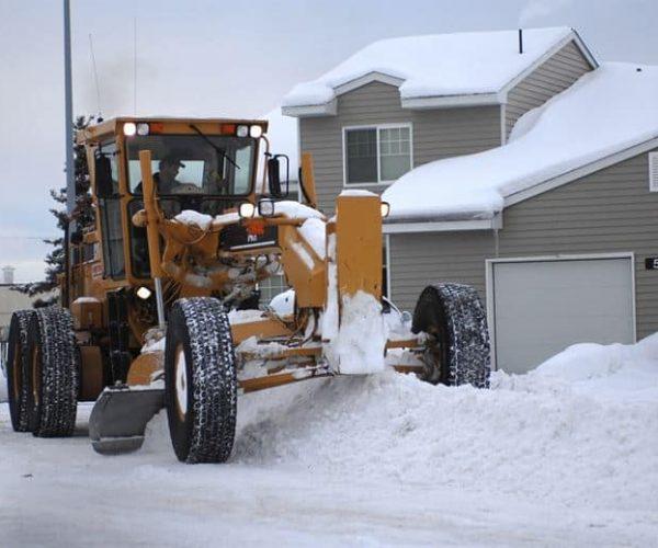 Big tractor plowing